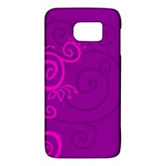 Floraly Swirlish Purple Color Galaxy S6