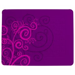 Floraly Swirlish Purple Color Jigsaw Puzzle Photo Stand (rectangular)