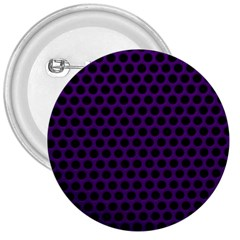 Dark Purple Metal Mesh With Round Holes Texture 3  Buttons