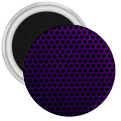Dark Purple Metal Mesh With Round Holes Texture 3  Magnets