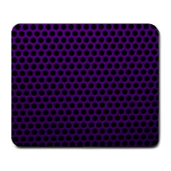 Dark Purple Metal Mesh With Round Holes Texture Large Mousepads