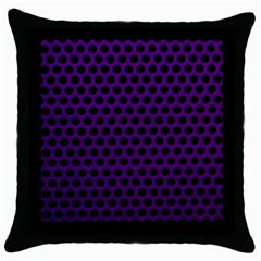 Dark Purple Metal Mesh With Round Holes Texture Throw Pillow Case (black)
