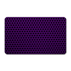 Dark Purple Metal Mesh With Round Holes Texture Magnet (rectangular)