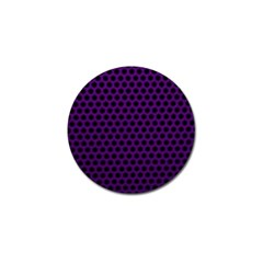 Dark Purple Metal Mesh With Round Holes Texture Golf Ball Marker (10 Pack)