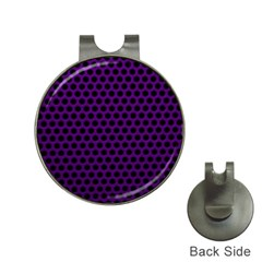 Dark Purple Metal Mesh With Round Holes Texture Hat Clips With Golf Markers