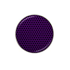 Dark Purple Metal Mesh With Round Holes Texture Hat Clip Ball Marker (10 Pack)