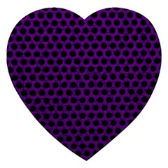 Dark Purple Metal Mesh With Round Holes Texture Jigsaw Puzzle (heart)