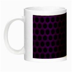 Dark Purple Metal Mesh With Round Holes Texture Night Luminous Mugs