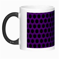 Dark Purple Metal Mesh With Round Holes Texture Morph Mugs