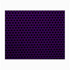 Dark Purple Metal Mesh With Round Holes Texture Small Glasses Cloth