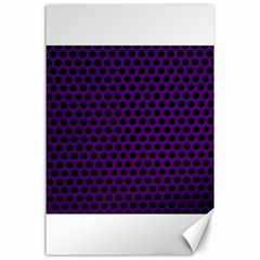Dark Purple Metal Mesh With Round Holes Texture Canvas 24  X 36
