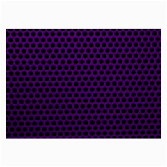 Dark Purple Metal Mesh With Round Holes Texture Large Glasses Cloth