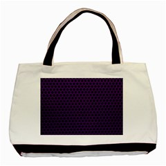 Dark Purple Metal Mesh With Round Holes Texture Basic Tote Bag (two Sides)