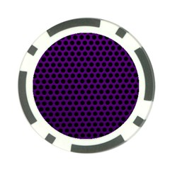 Dark Purple Metal Mesh With Round Holes Texture Poker Chip Card Guard