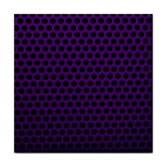 Dark Purple Metal Mesh With Round Holes Texture Face Towel