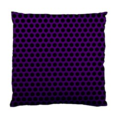 Dark Purple Metal Mesh With Round Holes Texture Standard Cushion Case (two Sides)