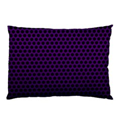 Dark Purple Metal Mesh With Round Holes Texture Pillow Case