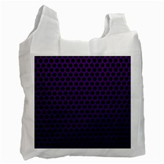 Dark Purple Metal Mesh With Round Holes Texture Recycle Bag (one Side)