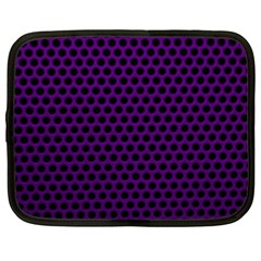 Dark Purple Metal Mesh With Round Holes Texture Netbook Case (xxl)