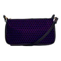 Dark Purple Metal Mesh With Round Holes Texture Shoulder Clutch Bags