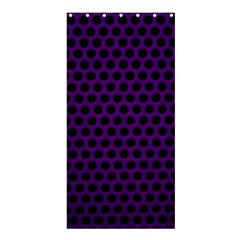 Dark Purple Metal Mesh With Round Holes Texture Shower Curtain 36  X 72  (stall)