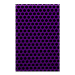 Dark Purple Metal Mesh With Round Holes Texture Shower Curtain 48  X 72  (small)