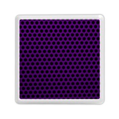 Dark Purple Metal Mesh With Round Holes Texture Memory Card Reader (square)