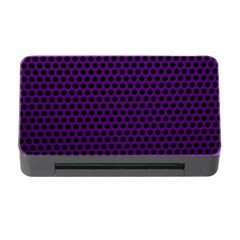 Dark Purple Metal Mesh With Round Holes Texture Memory Card Reader with CF