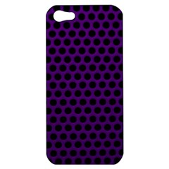 Dark Purple Metal Mesh With Round Holes Texture Apple Iphone 5 Hardshell Case