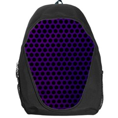Dark Purple Metal Mesh With Round Holes Texture Backpack Bag