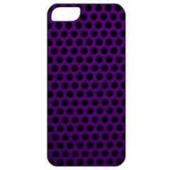 Dark Purple Metal Mesh With Round Holes Texture Apple Iphone 5 Classic Hardshell Case