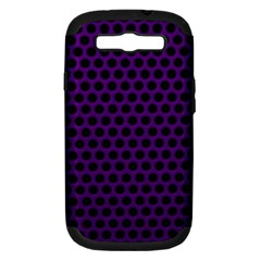 Dark Purple Metal Mesh With Round Holes Texture Samsung Galaxy S Iii Hardshell Case (pc+silicone)