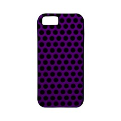 Dark Purple Metal Mesh With Round Holes Texture Apple Iphone 5 Classic Hardshell Case (pc+silicone)