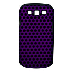 Dark Purple Metal Mesh With Round Holes Texture Samsung Galaxy S Iii Classic Hardshell Case (pc+silicone)