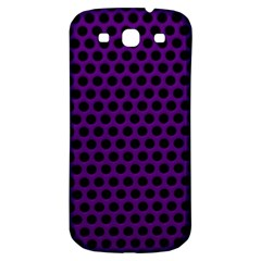 Dark Purple Metal Mesh With Round Holes Texture Samsung Galaxy S3 S Iii Classic Hardshell Back Case