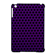 Dark Purple Metal Mesh With Round Holes Texture Apple iPad Mini Hardshell Case (Compatible with Smart Cover)