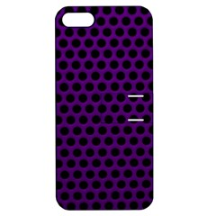 Dark Purple Metal Mesh With Round Holes Texture Apple Iphone 5 Hardshell Case With Stand