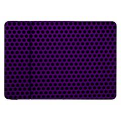 Dark Purple Metal Mesh With Round Holes Texture Samsung Galaxy Tab 8 9  P7300 Flip Case
