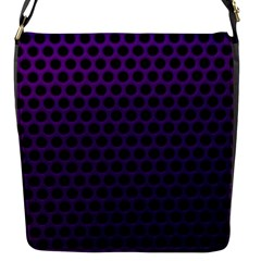 Dark Purple Metal Mesh With Round Holes Texture Flap Messenger Bag (s)