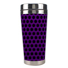 Dark Purple Metal Mesh With Round Holes Texture Stainless Steel Travel Tumblers
