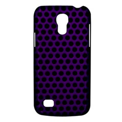 Dark Purple Metal Mesh With Round Holes Texture Galaxy S4 Mini