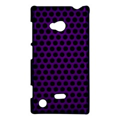 Dark Purple Metal Mesh With Round Holes Texture Nokia Lumia 720