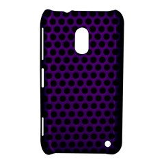 Dark Purple Metal Mesh With Round Holes Texture Nokia Lumia 620