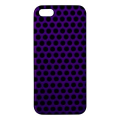 Dark Purple Metal Mesh With Round Holes Texture Iphone 5s/ Se Premium Hardshell Case