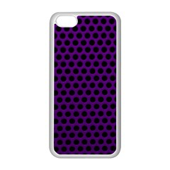 Dark Purple Metal Mesh With Round Holes Texture Apple Iphone 5c Seamless Case (white)