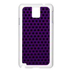 Dark Purple Metal Mesh With Round Holes Texture Samsung Galaxy Note 3 N9005 Case (white)