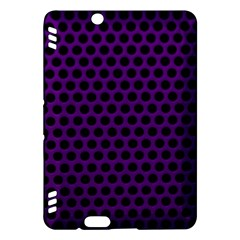 Dark Purple Metal Mesh With Round Holes Texture Kindle Fire Hdx Hardshell Case