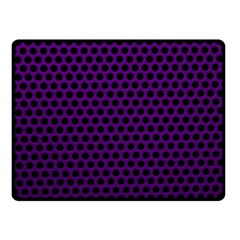 Dark Purple Metal Mesh With Round Holes Texture Double Sided Fleece Blanket (small)