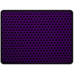 Dark Purple Metal Mesh With Round Holes Texture Double Sided Fleece Blanket (large)