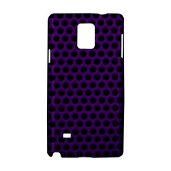 Dark Purple Metal Mesh With Round Holes Texture Samsung Galaxy Note 4 Hardshell Case